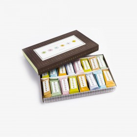 Assorted chocolate bars paper box 480g - 16,93 oz
