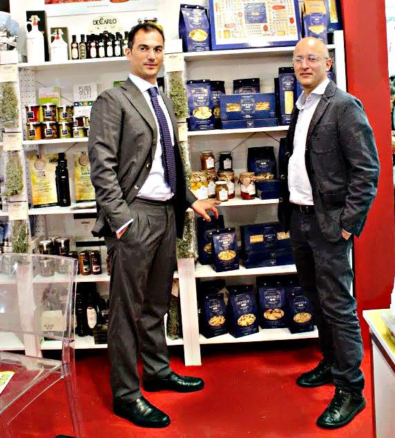 Alberto del Pastificio Gentile di Gragnano con Antonio Autore di AutoreChocolate.